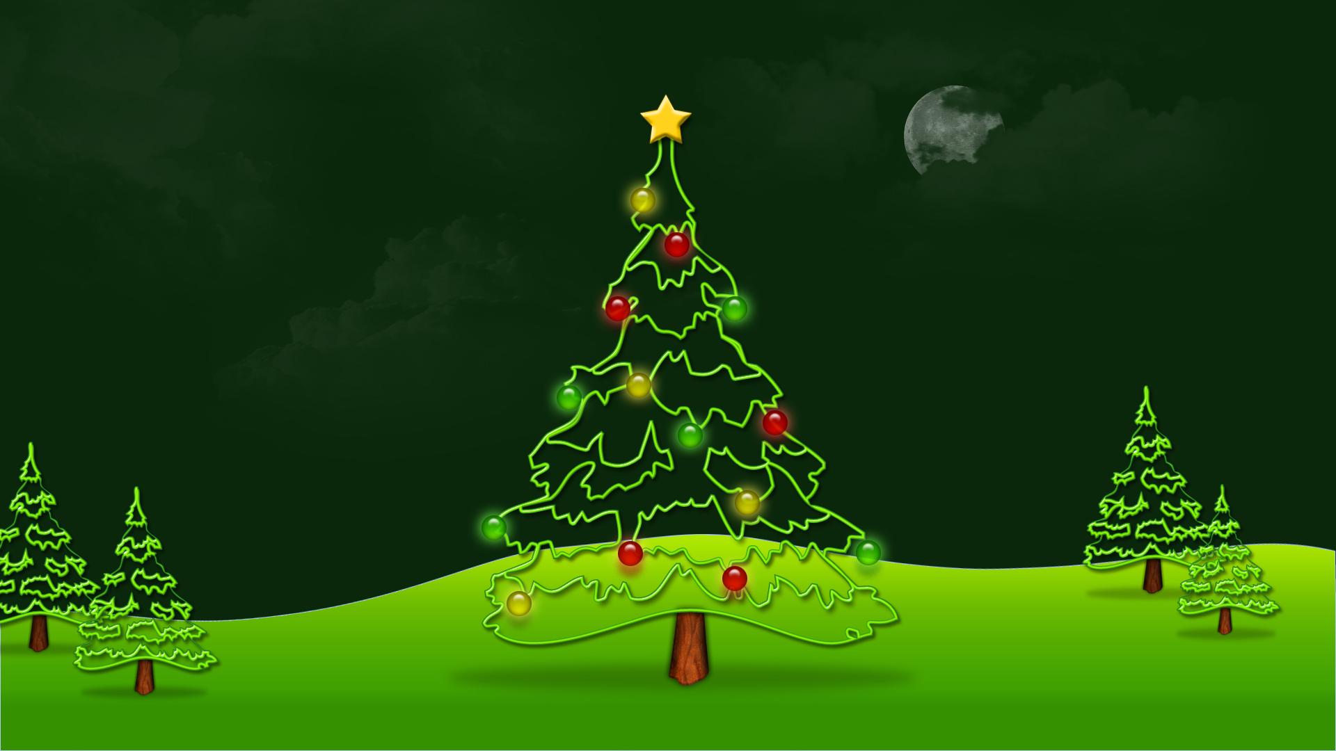 Green-Christmas-Tree-Background-Wallpaper-HD